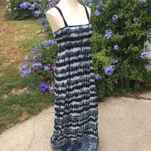 Lucky Brand Shibori Maxi Dress